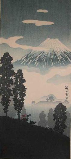 Shotei - Snow Covered Mt. Fuji, 1930
