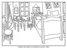 Van Gogh La chambre à coucher