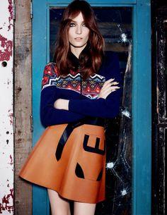 Zuzanna Bijoch by Matt Irwin for Vogue Turkey September 2014 - total louis vuitton winter outfit - editorials