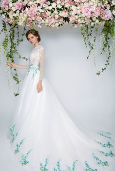 Blooming Romantic! Pretty in Floral | Floral  Wedding Dresses   Bridal Boutique Singapore | Wedding Gown Singapore | Wedding Dress Singapore | Wedding Package Singapore | Wedding Gown Rental | Wedding Gown Purchase