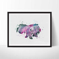 Eeyore Print, Winnie the Pooh Disney Watercolor Art, Nursery Art Print, Kids Decor, Baby Room, Giclee Poster, Wall Art, Not Framed, No. 143