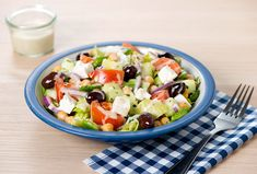 This yummy salad recipe uses Annie's (vinegar-free) Lemon & Chive Dressing. The fresh, Mediterranean flavors pair well with the additional inclusion of chickpeas, which makes this salad extra satisfying. You can serve it with grilled chicken if you'd like to make it an even more substantial meal, but this salad is delicious by itself. For a vegan version of the salad, just omit the Feta — ...