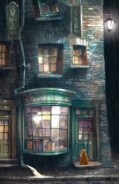Diagon Alley - night rain