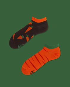 Garden Carrot Low socks | men socks | colorful socks | cool socks | mismatched | womens socks | unique socks | patterned socks | crazy socks