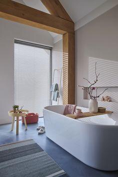 Kitchen Interior, Interior Design Living Room, Living Room Designs, Interior Decorating, Hunter Douglas, Aluminum Blinds, Bathroom Blinds, Wood Blinds, Decoration