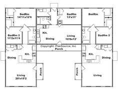 U Shaped House With Courtyard Extra Living Room Modified