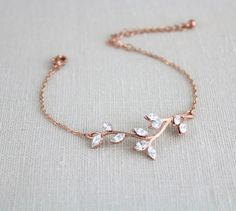 Rose gold bracelet Bridal bracelet Wedding jewelry Bridesmaid bracelet Crystal bangle bracelet Rhinestone bracelet Swarovski bracelet - *About style & accessories* - Joalheria Bridesmaid Bracelet, Wedding Bracelet, Sterling Silver Bracelets, Bangle Bracelets, Rose Gold Bracelets, Ladies Bracelet, Jewelry Sets, Fine Jewelry, Jewelry Stores