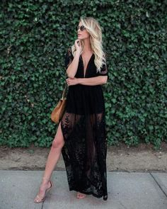 Thora Maxi Romper - Black