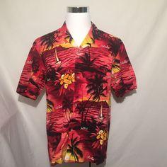 Hawaiian Island Aloha Camp Shirt Royal Creations XL Short Sleeve #RoyalCreations #Hawaiian