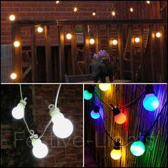 3f3750690b96a 20 LED FESTOON CONNECTABLE CHRISTMAS LIGHTS OUTDOOR GARDEN XMAS PARTY  WEDDING 8M Christmas Garden, Outdoor