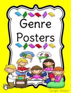 24 Literature Genre Posters