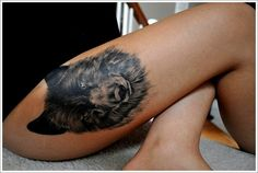 Creativity of Designing the Wolf Tattoo Designs: Wolf Head Tattoo Designs For Women On Thigh ~ Tattoo Design Inspiration