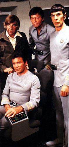 STAR TREK Gene Roddenberry, Deforest Kelley, Leonard Nimoy, William Shatner (Star Trek The Motion Picture)