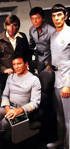 STAR TREK Gene Roddenberry, Deforest Kelley, Leonard Nimoy, William Shatner (Star Trek The Motion Picture)