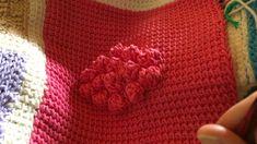Tunisian Crochet: Afghan Sampler Block 32 (Bobble)