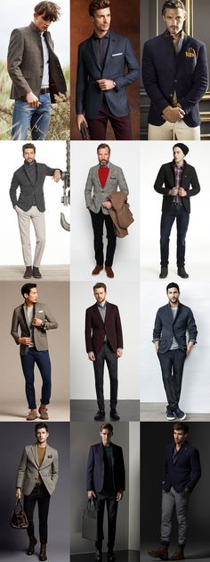 Men's Transitional Jackets For Autumn 2014: Textured Blazers For Autumn Lookbook Inspiration