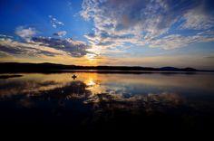 Zachód słońca nad Soliną Sunset Solina lake