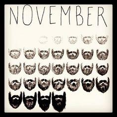 No Shave November has arrived.