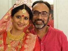 The Beautiful Bengali Bride, makeup by Aniruddha Chakladar.   Visit us at ShaadiSimplified.com for top Beauticians.