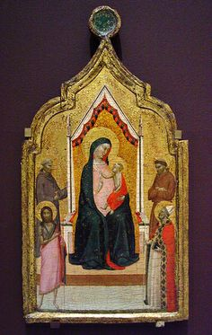 Madonna and Child Enthroned with Saints 1330-36, by BERNARDO DADDI (Firenze, 1290 circa – Firenze, 1348) #TuscanyAgriturismoGiratola