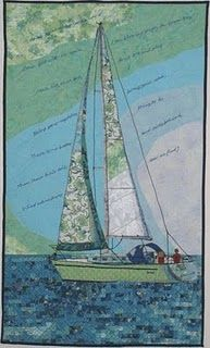 sailboat applique Awesome quilt!!!!!!!!!