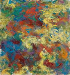 Milton Resnick, Abstract Composition (Red, Blue, Orange and Yellow)