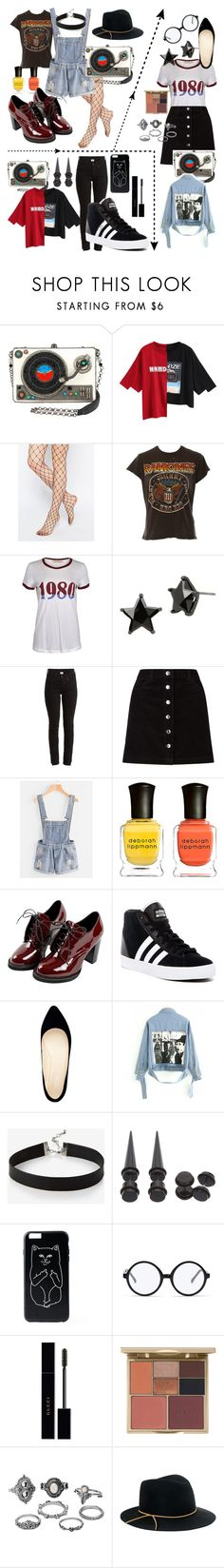 """""""Concert Looks"""" by a-m-stall ❤ liked on Polyvore featuring Gipsy, MadeWorn, Betsey Johnson, Vetements, Miss Selfridge, Deborah Lippmann, adidas, Nine West, Express and Hot Topic"""