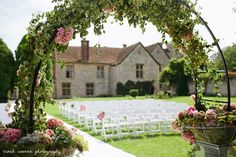 #notleyabbey #flowerarch #vintage Vintage flower arch at Notley Abbey Flowers by Kitten Grayson http://kittengrayson.com/