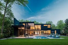 Sleek and sexy modern property in Oakville, Ontario...Canada