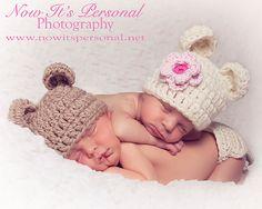 Crochet Hat Pattern Bulky Baby Bear Beanie PDF 214 by PoshPatterns, $3.99