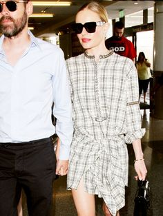How to Style a Dress for Fall, Courtesy of Kate Bosworth   WhoWhatWear.com