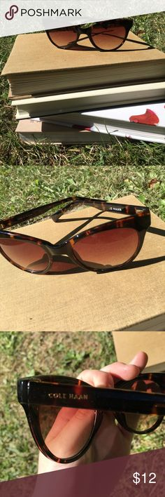Cole Hann Vintage look Sunglasses Excellent condition. Must have!!!!  They are a tortoise shell color.    .E. Cole Haan Accessories Sunglasses