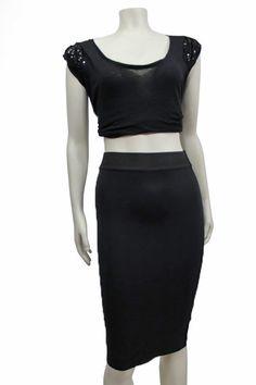 6505c5453434 ZARA TRAFALUC Black stretch bodycon pencil Skirt Size S  ZARATRAFALUC   StraightPencil Finders Keepers