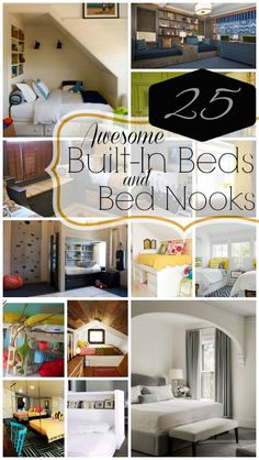 25 Awesome Constructed-In Beds And Bed Nooks - http://www.diydecorprojects.com/25-awesome-constructed-in-beds-and-bed-nooks.html