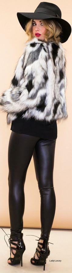 MARANT FAUX FUR JACKET | LadyLuxuryDesigns • Street CHIC • ❤️ Babz ✿ιиѕριяαтισи❀ #abbigliamento