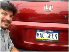 Could this guy possibly be an Apple fan?