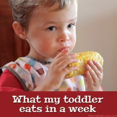 To give you some ideas around healthy meals for babies and toddlers, I took photos of my three-year-old son Griffin's breakfasts, lunches, dinners, and snacks for a week and made this video. Enjoy! - See more at: http://mamanatural.com/what-my-toddler-eats-in-a-week/#sthash.6J7v1Fy0.dpuf
