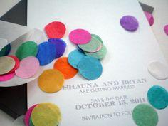 Send confetti with your wedding card