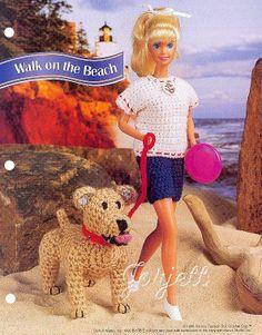 Walk on the Beach, Annie's crochet patterns fit Barbie fashion dolls #AnniesAttic