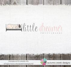 Photography Logo Design - newborn Baby Hat Shop Prop Photography Illustration Logo Design  OOAK Hand Drawn via Etsy