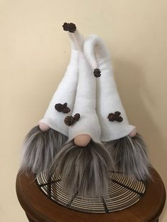 LISTING: IS FOR THREE - Handmade Large Gnomes. The Gnome is approx. 25 inches tall. These Gnomes are VERY soft and made with Premium Materials. Beautiful decoration for a shelf or desk. If you have any Questions, please Feel Free to Message Me! Thanks For Stopping By