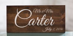 Last Name Wedding Sign | Wedding Gift | Wedding Establish Sign | Mr and Mrs Wood Sign