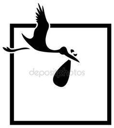 Векторы, похожие на 9731563 the vector flying stork with a bundle