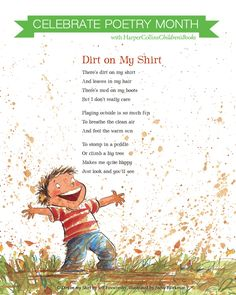 Celebrate Poetry Month with HarperCollins Children's Books! Outdoor Education, Outdoor Learning, Outdoor Play, Kids Poems, Easy Poems For Kids, Nature Poems For Kids, Spring Poems For Kids, Summer Poems, Poetry For Kids