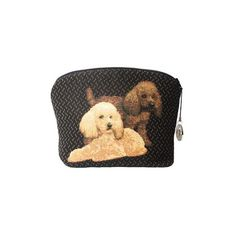 This elegant tapestry pouch bears a different design on each side. These two poodles are so cute !