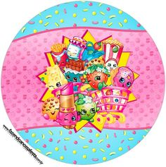 Shopkins: Free Printable Wrappers and Toppers for Cupcakes. Shopkins Art, Shopkins Bday, Shopkins Happy Places, Blogger Templates, Sewing For Kids, Cute Stickers, Holidays And Events, Birthday Decorations, Free Printables