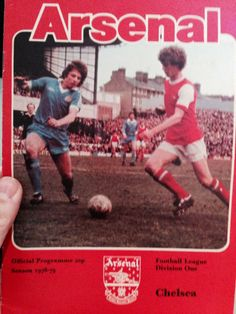 Arsenal vs Chelsea Programme Cover 1978-1979. 5-2 to The Gunners...!