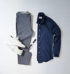Essentials by silverfox_collective Look Fashion, Mens Fashion, Fashion Outfits, Stylish Mens Outfits, Casual Outfits, Casual Jeans, Men Casual, Style Masculin, Outfit Grid