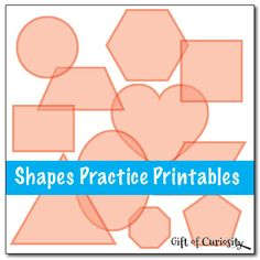 Shapes Practice Printables - color, trace, connect, and draw 12 different shapes Preschool Curriculum, Preschool Printables, Preschool Kindergarten, Preschool Shapes, Free Printables, Fall Preschool, Homeschooling, Early Learning, Fun Learning