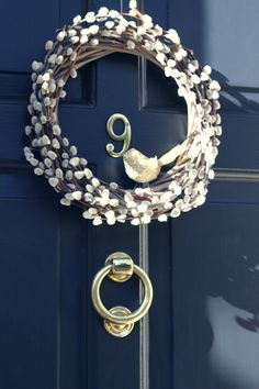 Handmade by Lulu Grace - catkin wreath with bird. Perfect for spring!